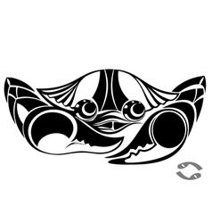 zodiac symbol of cancer vector image vector image