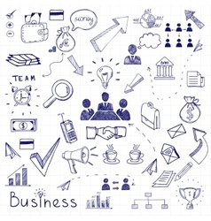 Business doodles vector image vector image