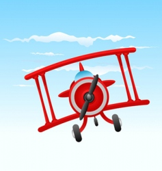 cartoon old plane vector image vector image