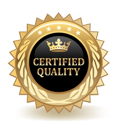 Certified Quality Badge vector image
