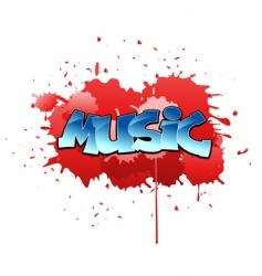 graffiti music background vector image vector image