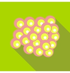 Group of viruses icon flat style vector