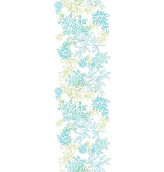 Scattered blue green branches vertical seamless vector image vector image