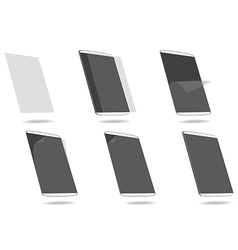 Steps apply screen protector tablet computer vector