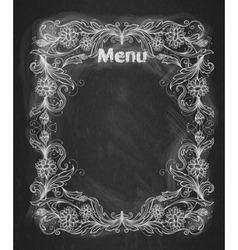 Vintage frame on the chalkboard vector image