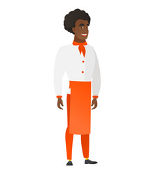 young african-american happy chef cook vector image