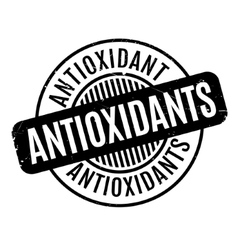 Antioxidants rubber stamp vector