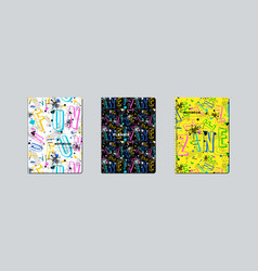 artistic notebook covers design vector image