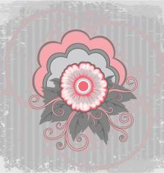 bakground with pink flower vector image vector image