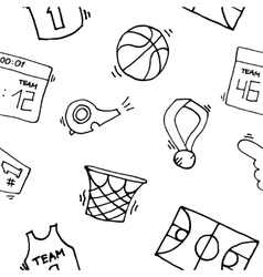 Basketball Elements Pattern vector