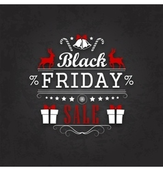 Black friday sale calligraphic designs vector