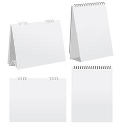 Blank desktop calendar vector image vector image