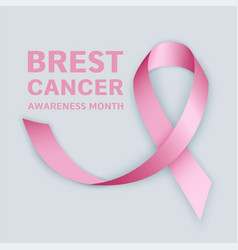 breast cancer month concept banner realistic vector image
