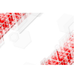 Bright red and white abstract technology vector