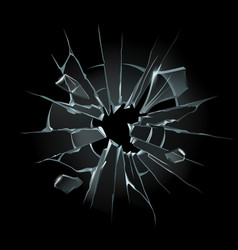 broken window glass broken windshield shattered vector image