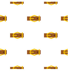 Brown leather belt pattern flat vector