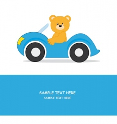 car bear vector image
