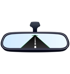 Car mirror and the road-2 vector