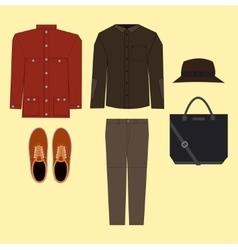 Casual man clothes vector image