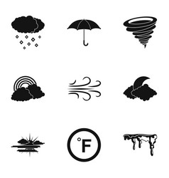 Climatic icons set simple style vector