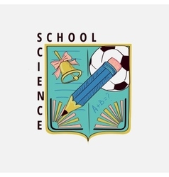 Colored vintage school label vector image