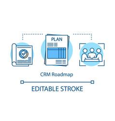 Crm roadmap concept icon vector