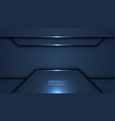 Dark abstract background with overlap layers vector