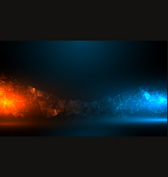Digital technology background with blue and vector