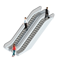 Escalator image Isometric Escalator vector