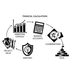 financial calculations concept background simple vector image