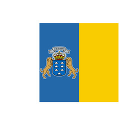 flag of canary islands in official vector image