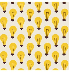 Flat Seamless Pattern with Light Bulbs vector image