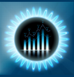 fuel in the stock market vector image
