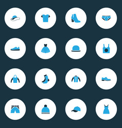 Garment colorful icons set collection of man vector
