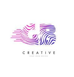 gb g b zebra lines letter logo design with vector image