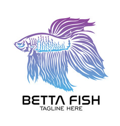 Gradient betta fish logo vector