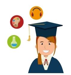 Graduation icon design vector