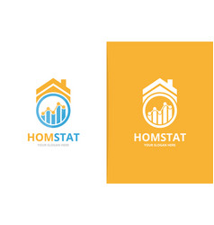 graph and real estate logo combination vector image