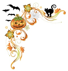Halloween ornament vector image