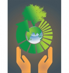 hand holding earth globe 4 vector image