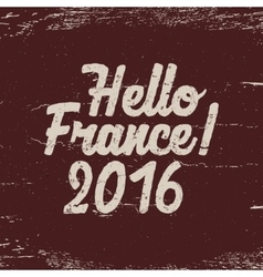Hello France label 2016 Soccer emblem Football vector