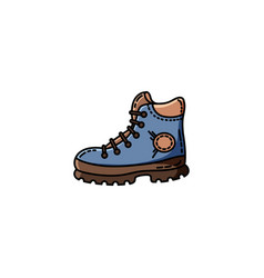 hiking boot flat icon for web vector image