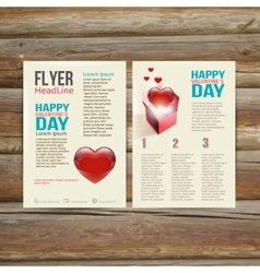 Holiday Brochure Flyer design template vector image