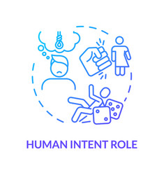 Human intention role think importance concept icon vector