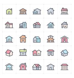 icon set - home icon full color vector image