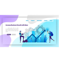 increase business growth with idea financial vector image
