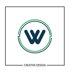 Initial letter w logo template design vector