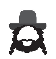 isolated rabbi icon vector image