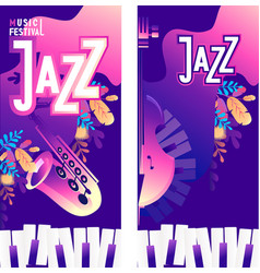 Jazz music poster vector