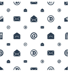 letter icons pattern seamless white background vector image